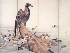 長沢芦雪 Rosetu Nagasawa『百鳥図』