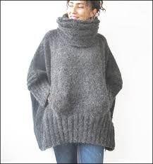 Resultado de imagen para capas y ponchos tejidos para dama tejidos a 2 agujas
