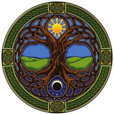 Celtic sun & moon tree of life