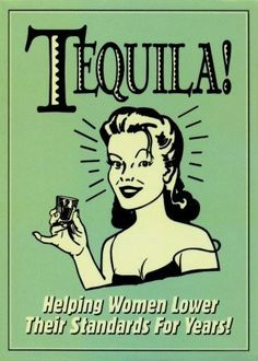 Tequila vintage poster