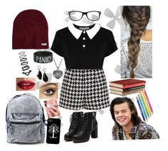 """""""Study Date W/ Harry Styles"""" by britishgirl98 ❤ liked on Polyvore featuring Dot & Bo, Emma Cook, Ray-Ban, Neff, MANGO, TheBalm, Charlotte Tilbury and Umbra"""
