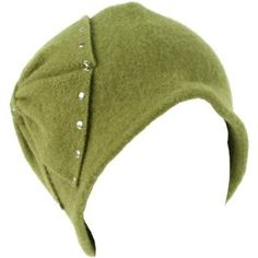Wool Winter Cloche Crushable Foldable Bucket Big Large Ribbon Bow Church Hat Olive SK Hat shop. $12.95