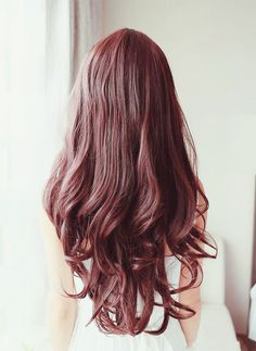 Beautiful red brown curly hair