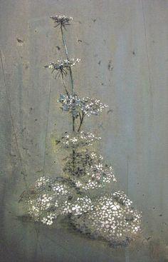 Boeiende borduur schilderkunst van Michael Raedecker Illustrations, Illustration Art, Language Of Flowers, Dutch Artists, Textile Artists, Botanical Prints, Textures Patterns, Mixed Media Art, Painting Inspiration