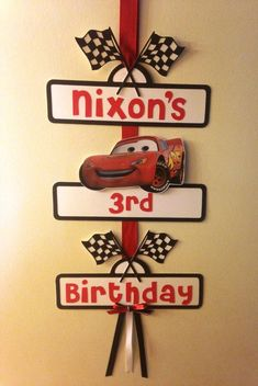 Disney Cars Party Sign by YourPartyShoppe on Etsy Disney Cars Party, Disney Cars Birthday, Car Party, Car Themed Parties, Cars Birthday Parties, Bebe Car, Race Car Birthday, 3rd Birthday, Party Signs