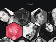 Hexfolio PSD Template by Julian Sebastian Arnold