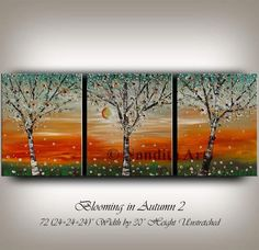 Large Wall Art, Flower Tree Painting, Landscape Oil Painting on Canvas, Original Home Decor, White Blooming Flower Art Painting by Nandita #WallArtDecor #LargeWallArt #BloomingFlowerArt #FlowerTreePainting #PaintingOnCanvas #OilPainting #FlowerPainting #painting #ModernHomeDecor #LandscapeOil