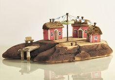 Christine Grandt - Treibholzkunst: maritime Geschenke, Design, Kunst, Art, Holz Skulptur Treibholz Haus Miniaturen #Holz #Geschenke # Treibholz # Design #Miniaturen #Skulptur