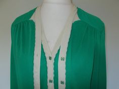 Vintage 60s 70s Jersey Masters of London green dress jacket suit size large extra large by BidandBertVintage on Etsy