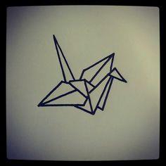 grulla origami tattoo - Buscar con Google