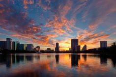 Sunset in Orlando, FL