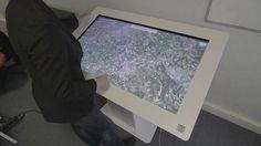 Maquette virtuelle 3D interactive d'un programme immobilier sur borne tactile