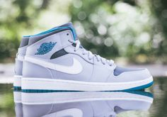 release date 663f0 4c2c3 Air Jordan 1 Mid Wolf Grey Tropical Teal  The Air Jordan 1 Mid silhouette  will be releasing in a bright rendition to add some color to the