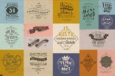 15 Rustic Wedding Badges & Stickers by KlapauciusCo on @creativemarket