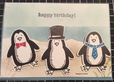 In Australia penguins are found on the beach on the South East Coast. So here is my take of little penguins celebrating a birthday