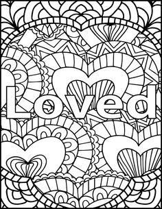 I Am Loved Adult Coloring Page