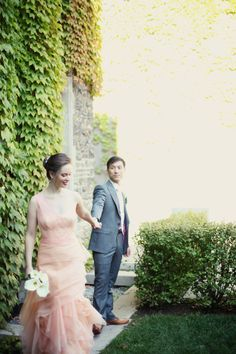 Photography by simplephoto.ca Blush Wedding Dress