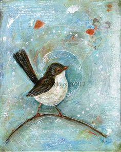 """Sing Your Song""   mixed media painting   by Diane Ackers"