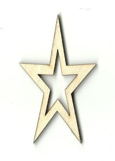 Star Unfinished Laser Cut Wood Shape SKY27