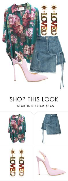 """""""LOVED"""" by bk2cb ❤ liked on Polyvore featuring Gucci, Sandy Liang, Casadei, gucci and sandyliang"""