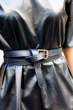 7de86ac8f4b Nini leather tunic top