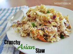 The Country Cook: Crunchy Asian Slaw {you are guaranteed to bring home an empty dish!}
