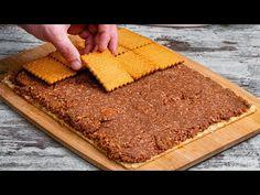 Sütés nélküli bécsi sütemény. Egyszerű, elérhető és nagyon finom Ízletes TV - YouTube Food Cakes, Cake Factory, Waffle, Butcher Block Cutting Board, Cornbread, Cake Recipes, Chocolate, Ethnic Recipes, Tv