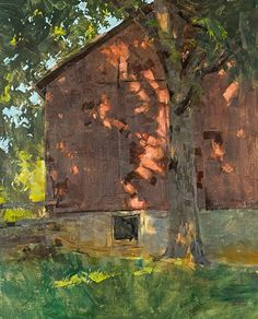 """Light Dancing at the Clapp Barn,"" by Patrick Saunders."