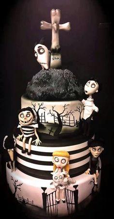 Love this! Tim Burtons 'Frankenweenie' cake!