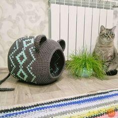 Vk Is The Largest European Social Networ - Diy Crafts Diy Crochet Cat Bed, Crochet Fox, Crochet Animals, Fleece Blanket Diy, Braided Rag Rugs, Headband Pattern, Crochet Projects, Crochet Patterns, Knitting