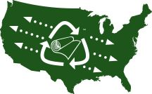 Carpet America Recovery Effort is a great website to show conversions of what carpet recycled carpet does for the planet