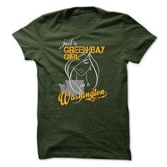 Green Bay Girl in Washington World T-Shirts, Hoodies. Check Price ==> https://www.sunfrog.com/No-Category/Green-Bay-Girl-in-Washington-World.html?id=41382