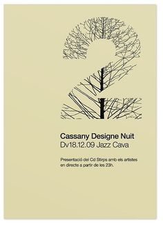 Typographie/Design graphique | Cassany Designe Nuit - Quim Marin