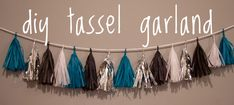 DIY Tassel Garland | The Sweetest Occasion. This would be awesome to make for Kevin's grad party in his colors.