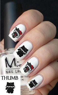 Hello Kitty Ninja Nail Decal Set