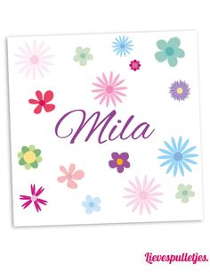 Een lieve muurdecoratie voor de meisjes kamer met lieve bloemetjes. Deze muurdecoratie wordt gratis gepersonaliseerd! Verkrijgbaar in diverse afmetingen! https://www.lievespulletjes.nl/muurdecoratie-babykamer-bloem-mila/