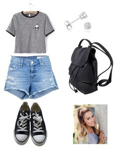 """""""Outfit Paired With Converse"""" by camyelle on Polyvore featuring rag & bone/JEAN, Amanda Rose Collection, Converse and WithChic"""
