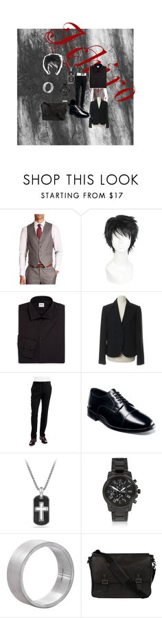 """Ichiro' school uniform"" by missheru ❤ liked on Polyvore featuring Saks Fifth Avenue, Armani Collezioni, Calvin Klein, Ted Baker, Nunn Bush, David Yurman, River Island, Edge Only, Wilsons Leather and men's fashion"