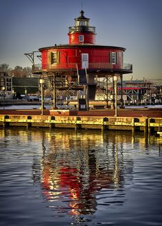 Seven Foot Knoll Lighthouse . Baltimore, Maryland