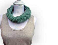 Ultramarine green knitted and crocheted wool yarn by ylleanna, €39.00