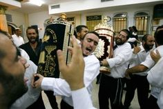 Dancing and singing all part of Jewish high holiday celebrations marking end of annual Torah reading cycle Jewish High Holidays, Simchat Torah, Jewish Festivals, Shabbat Shalom, The Eighth Day, Singing, Religion, Celebrities, Image