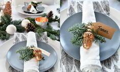 Beautiful tablescape with copper and white. More pictures on www.christmaholic.nl | Prachtige kersttafel dekken met koper en wit en echt kerstgroen. Meer foto's op www.christmaholic.nl.