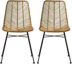 2 chaises en rotin naturel lena bloomingville the cool republic - Chaise Norvegienne