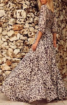 Beautiful animal print maxi dress