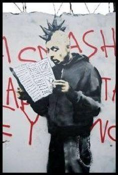 World Graffiti Street Art : 19 - Banksy, Borondo, Broken Fingaz. Banksy Graffiti, Street Art Banksy, Graffiti Artwork, 3d Street Art, Graffiti Wall, Street Artists, Bansky, Graffiti Font, Graffiti Artists