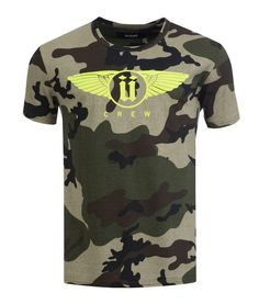 T-Shirt Unkut Neon Wings Camouflage Vert/Jaune fluo - Unkut Shop Officiel