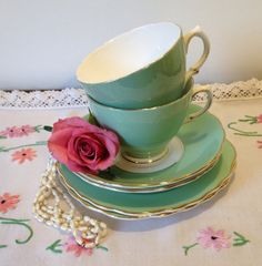 Gorgeous Colclough Harlequin Teacup Trio in by VerasTreasures, £19.00