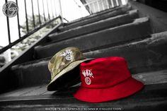 Hater Cursive Logo Bucket Hat (Red/Camo) Coming soon
