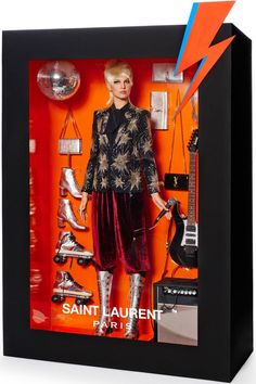 Saint Laurent :: Vogue Models Pose as High Fashion Dolls