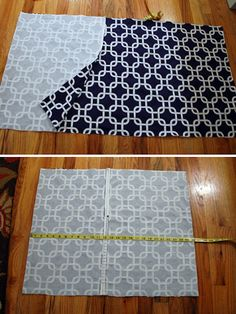 1 piece of fabric. 4 lines to sew. 1 envelope pillow case.